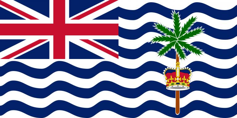 Знаме Британска територия в Индийския океан