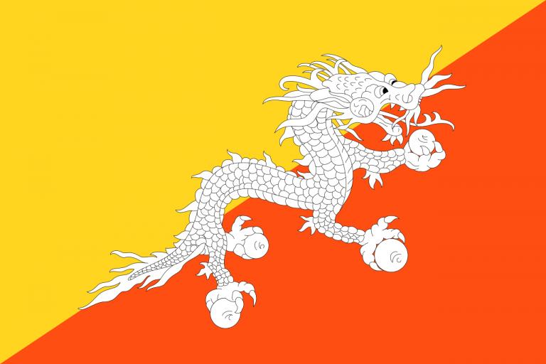 Знаме Бутан