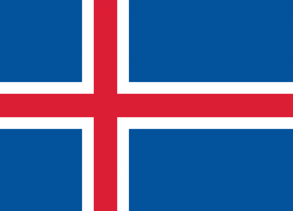 Знаме Исландия