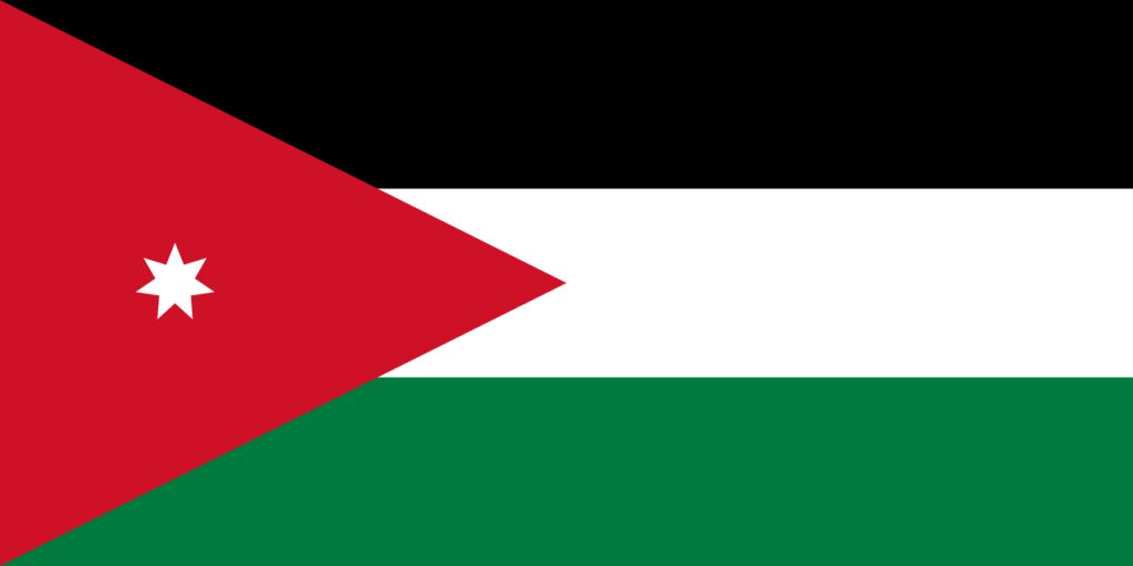 Знаме Йордания