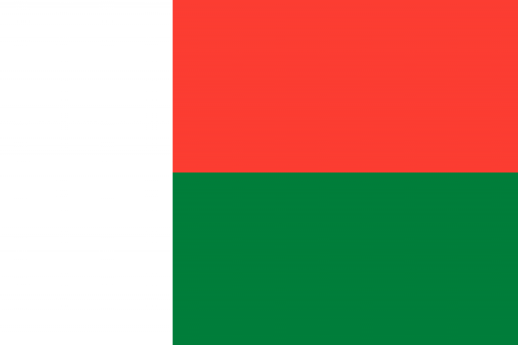 Знаме Мадагаскар