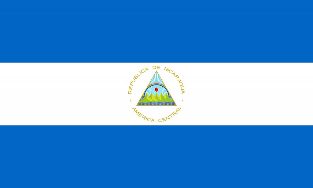 Знаме Никарагуа