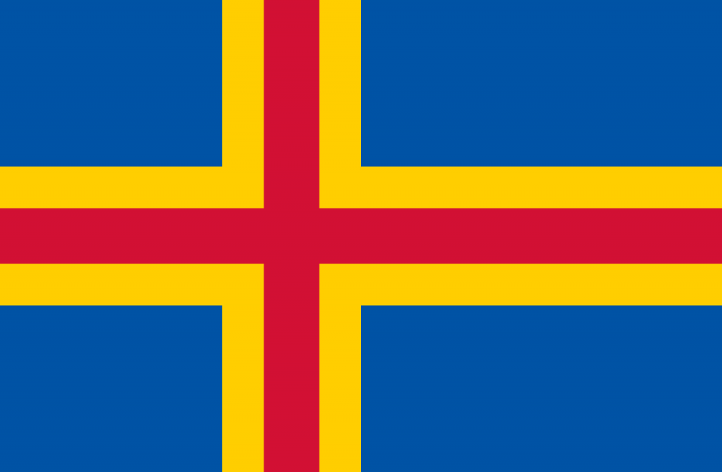 Знаме Оландски острови