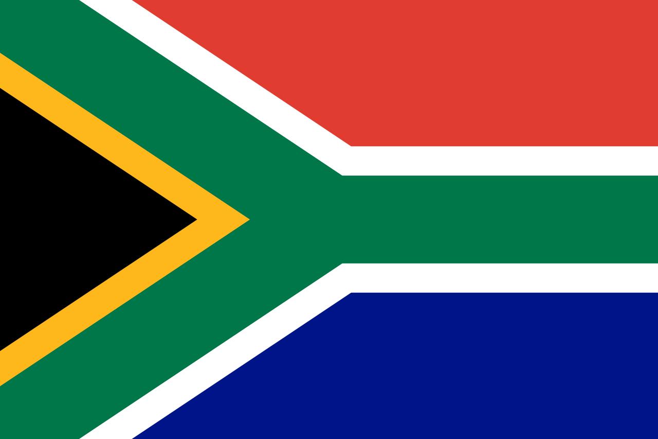 Знаме Република Южна Африка