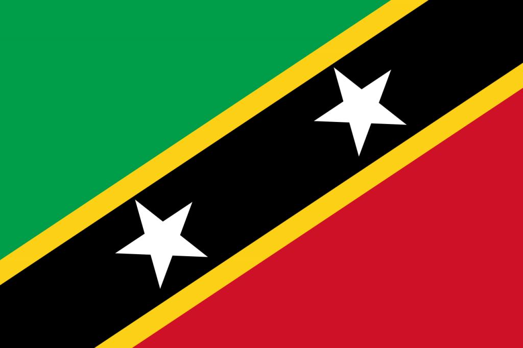 Знаме Сейнт Китс и Невис