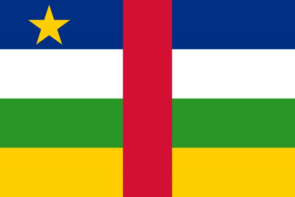 Знаме Централноафриканска република